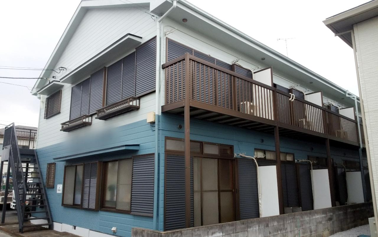 坂戸市 Sアパート塗装工事