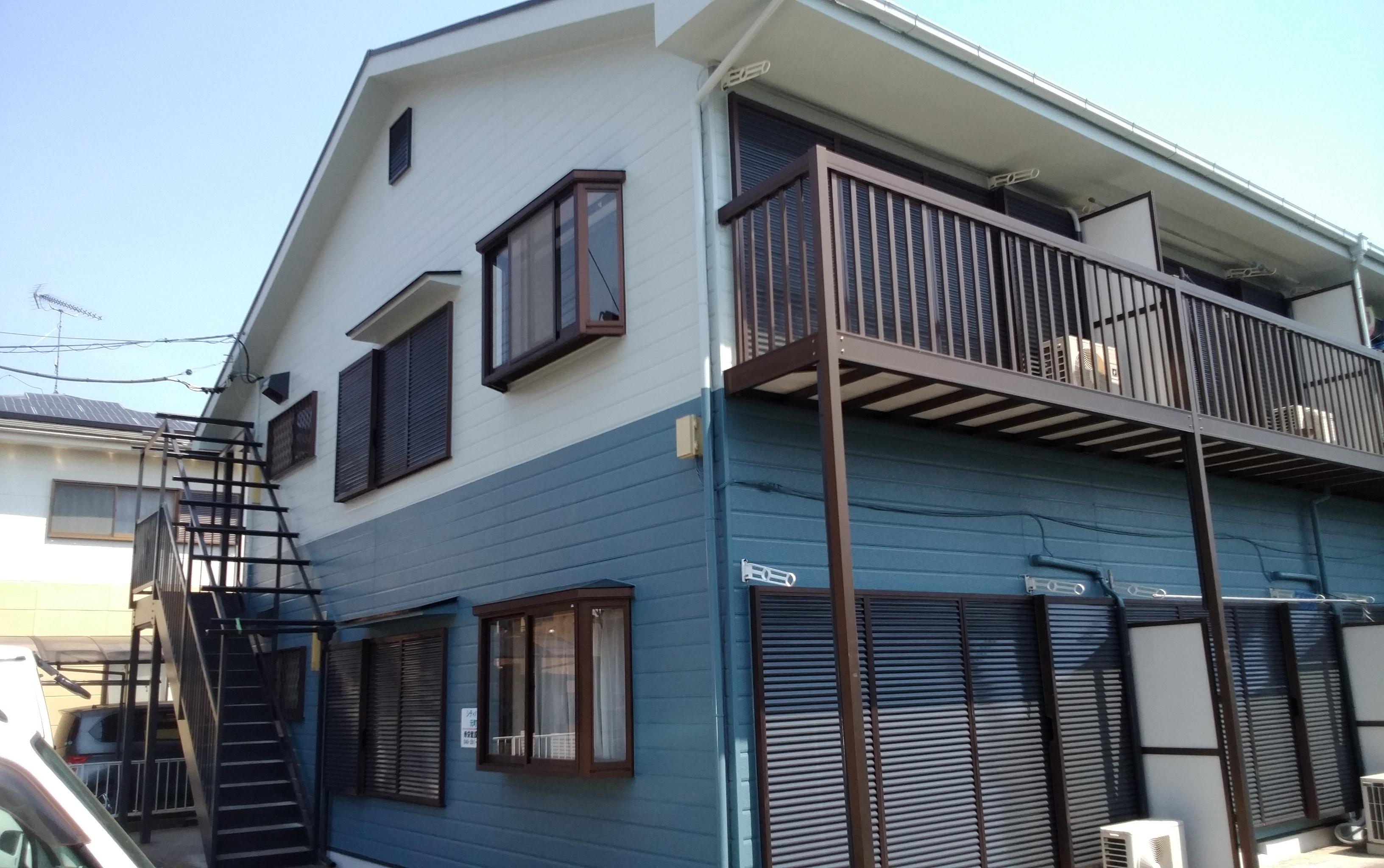 坂戸市 Mアパート塗装工事