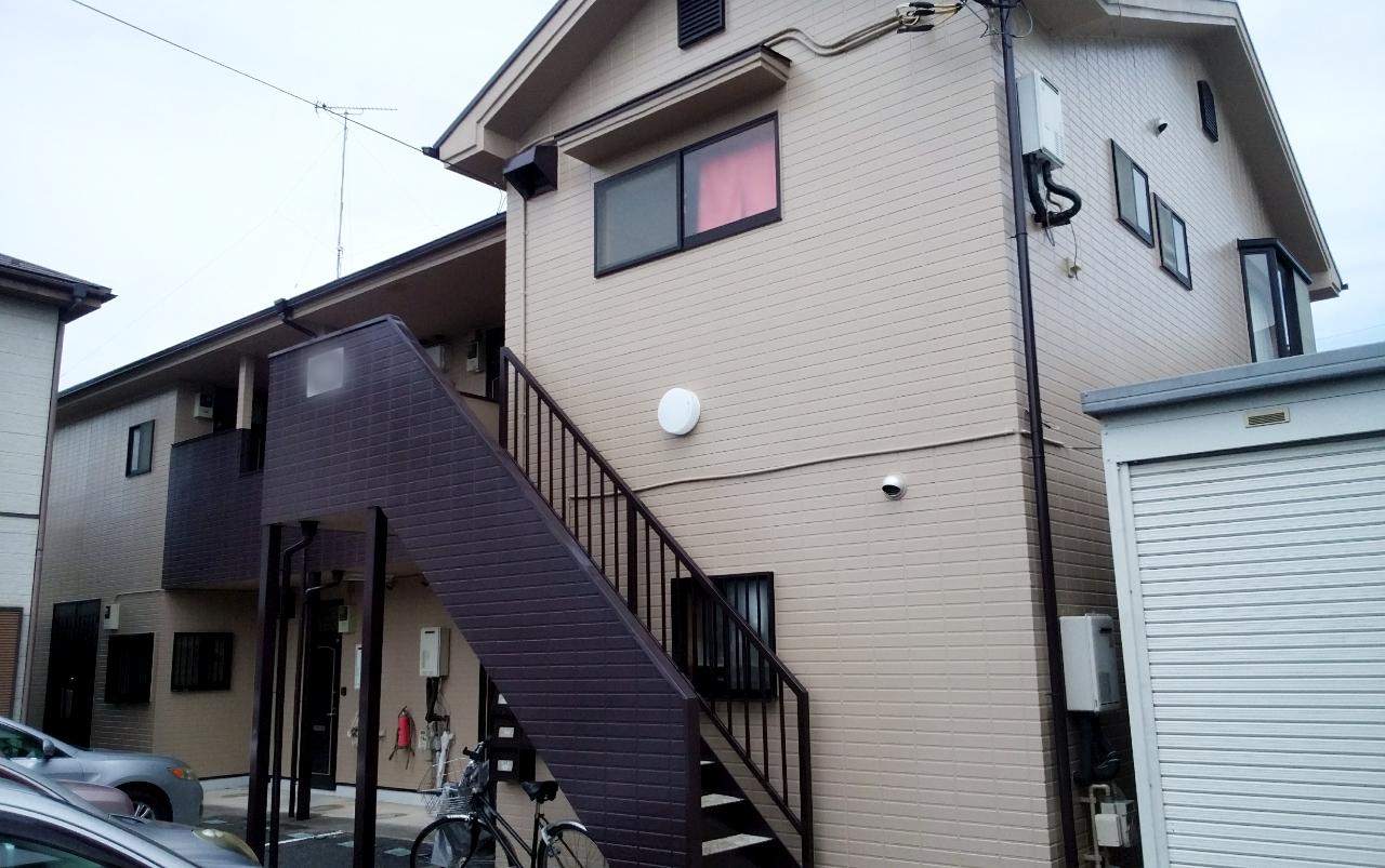 坂戸市 Hアパート塗装工事